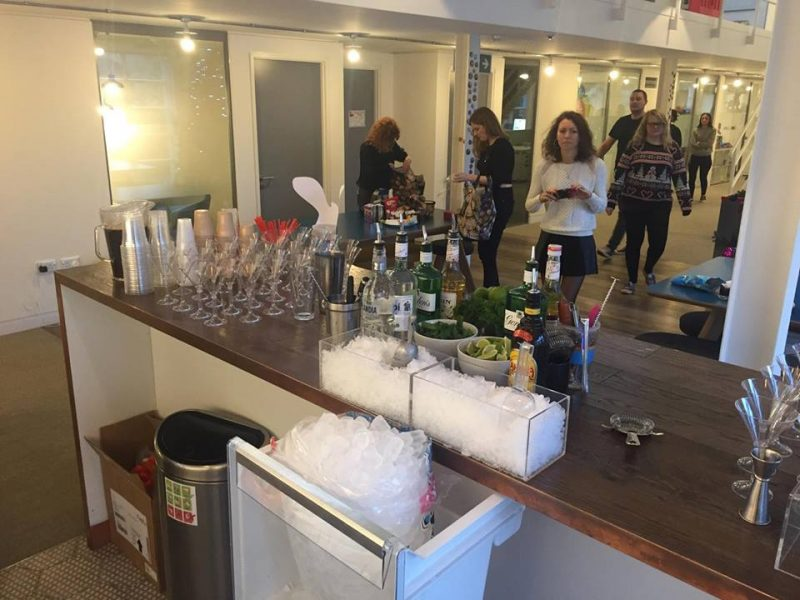 office cocktail party